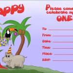 Lots Of First Birthday Party Invitations: Free And Printable   Jungle Theme Birthday Invitations Free Printable