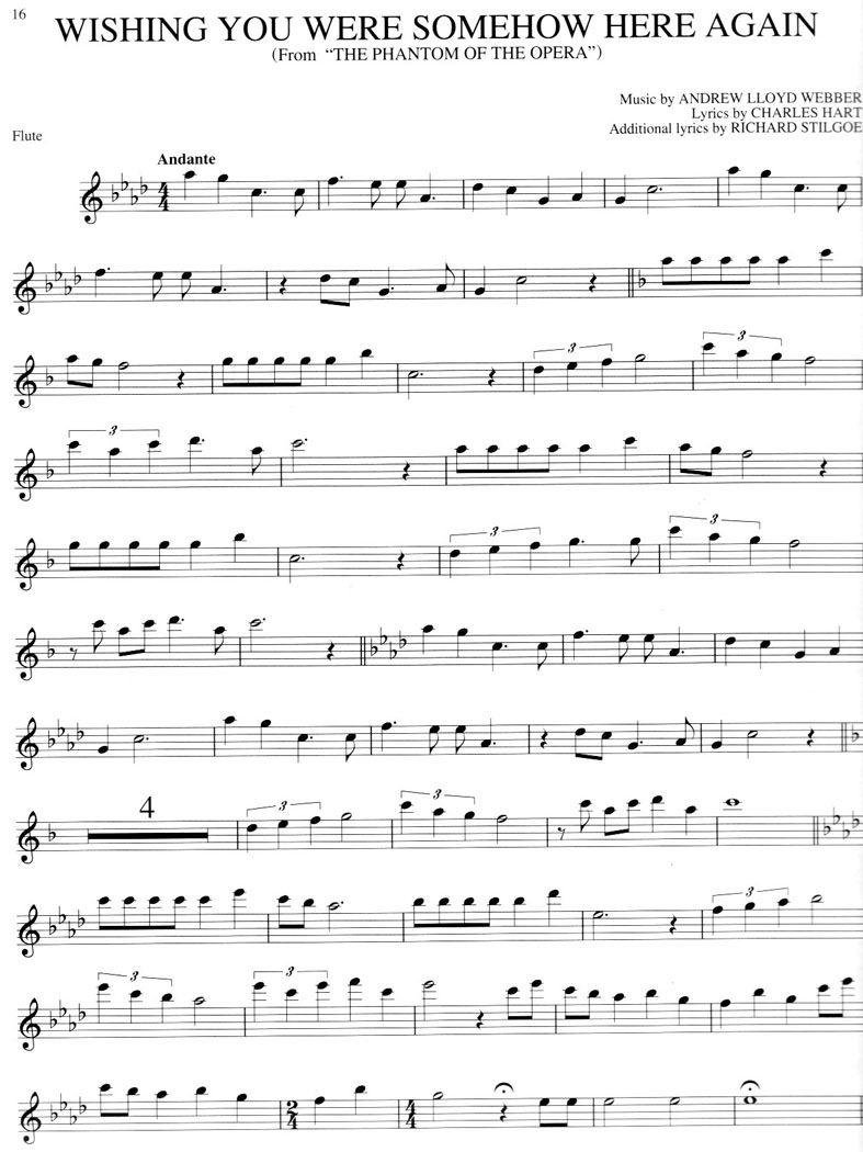 Love Changes Everything Lyrics | Andrew Lloyd Webber | Free Flute - Free Printable Flute Music