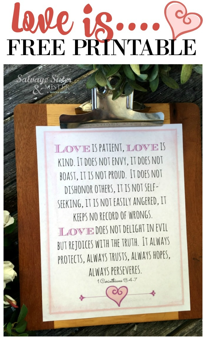 Love Is Patient Love Is Kind Free Printable