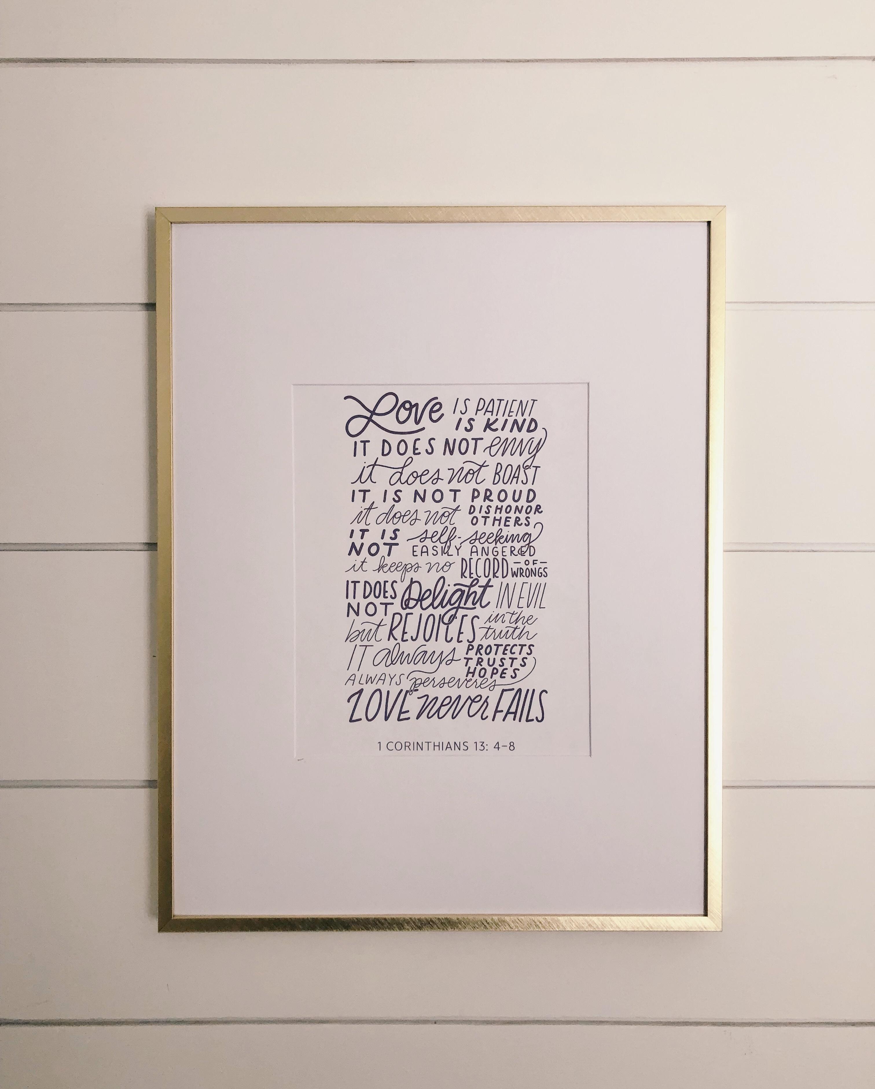 Love Is Patient, Love Is Kind | Free Printable | Harbor + Pine - Love Is Patient Love Is Kind Free Printable