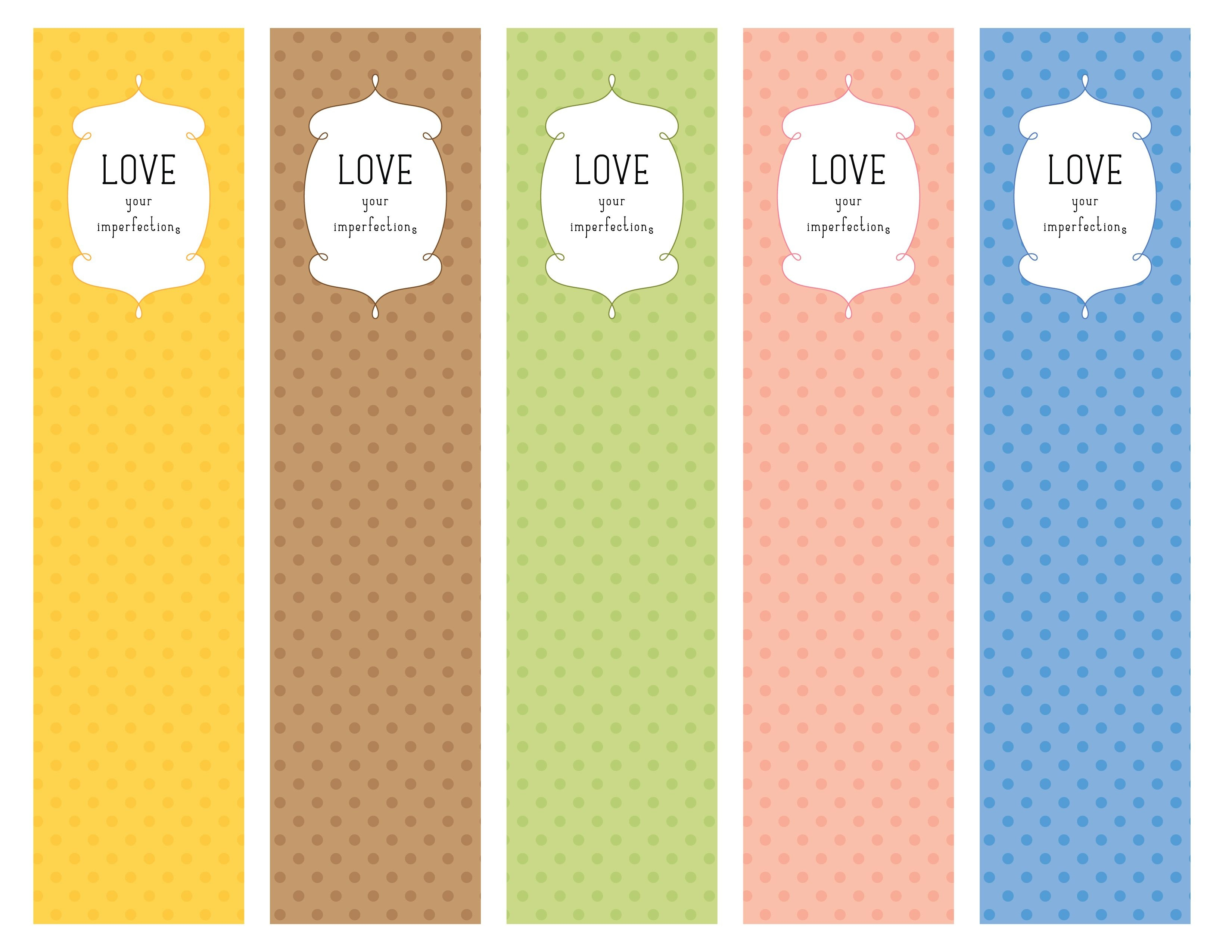 Love Your Imperfections Bookmarks (Pdf Printable) | My Graphic - Free Printable Bookmarks Pdf