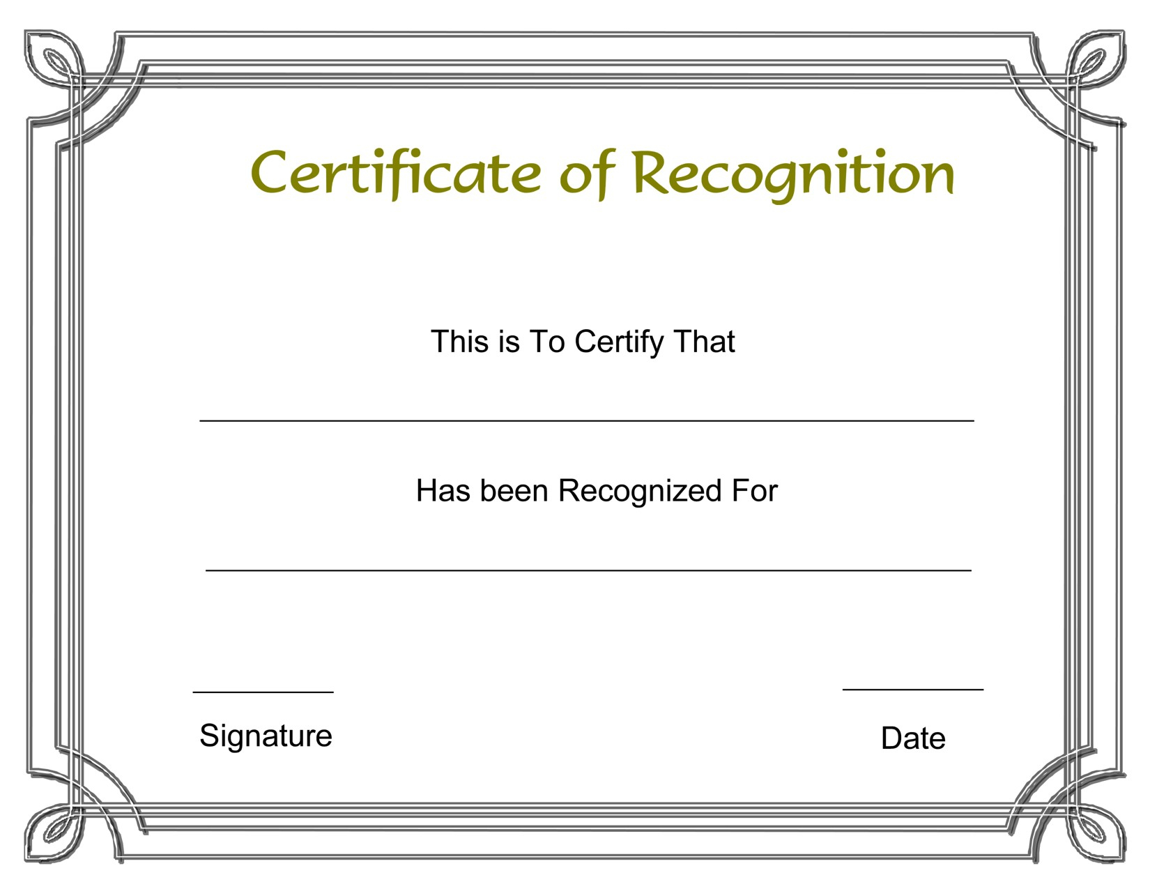 Lovely Certificate Of Appreciation Template | Www.pantry-Magic - Free Printable Certificate Of Appreciation