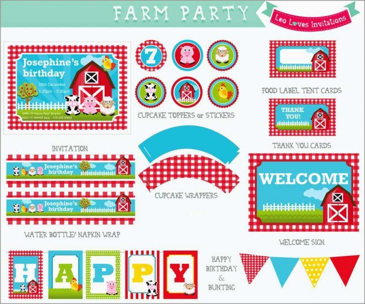 Free Printable Farm Birthday Invitations