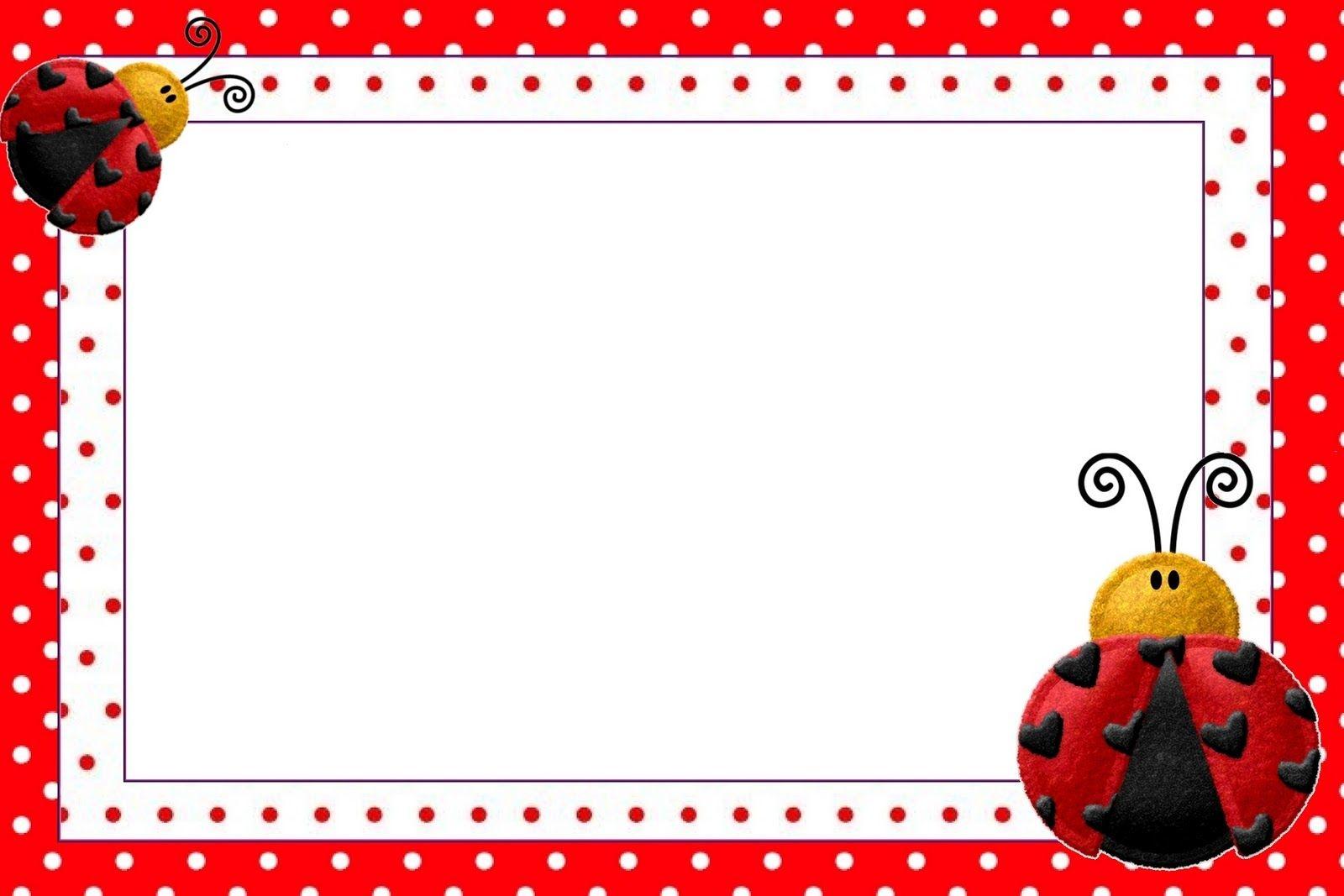 Lovely Ladybugs Free Printable Invitations.   Ladybugs   Ladybug - Free Printable Ladybug Stationery