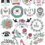 Lovely Symbol Stickers Printable #sticker #printable #free #cute   Free Printable Tumblr Stickers