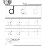 """Lowercase Letter """"d"""" Tracing Worksheet   Doozy Moo   Free Printable Letter Tracing Sheets"""