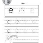 """Lowercase Letter """"e"""" Tracing Worksheet   Doozy Moo   Free Printable Tracing Worksheets"""