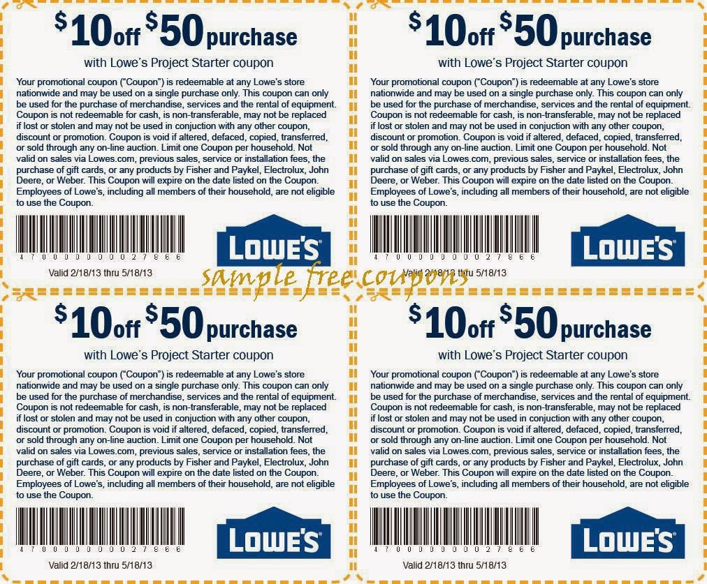 Lowes Printable Coupons For 2018 And Beyond! | Coupon Codes Blog - Lowes Coupon Printable Free