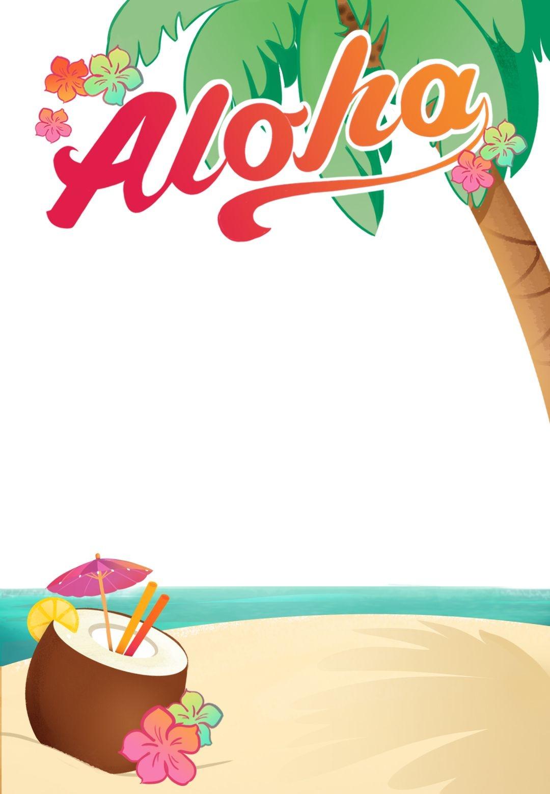 Luau Party - Free Printable Summer Party Invitation Template - Free Printable Luau Flyers