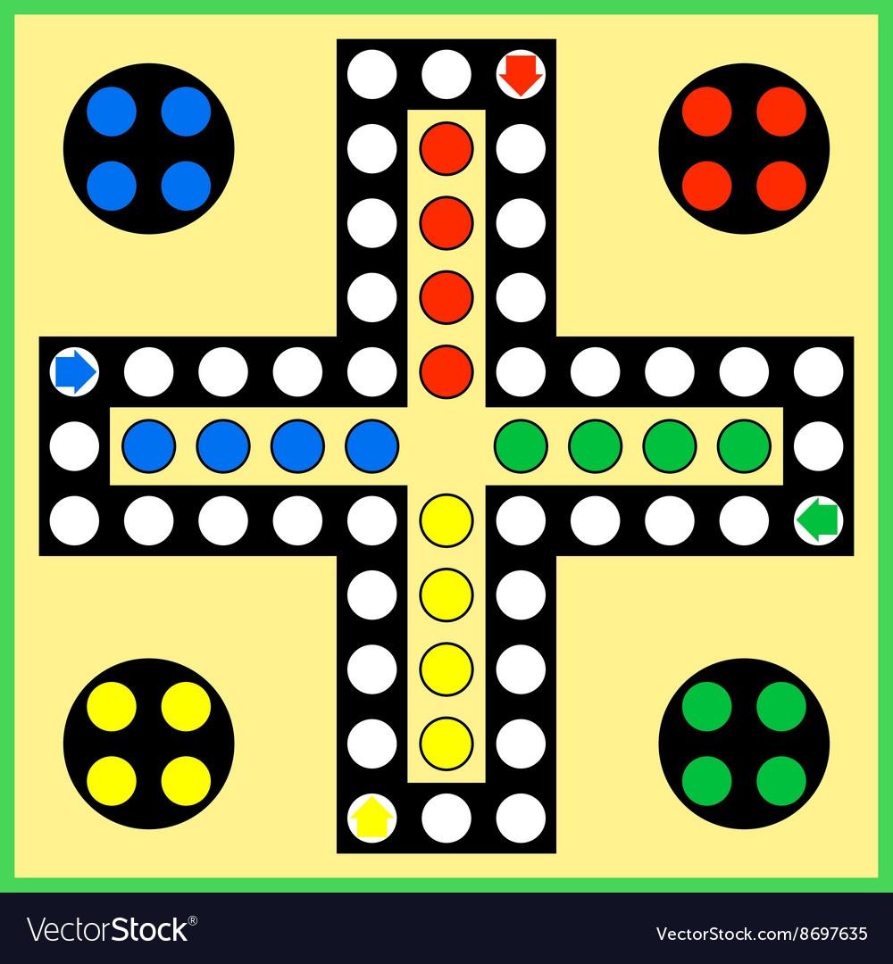 Ludo Board Game Royalty Free Vector Image - Vectorstock - Free Printable Ludo Board