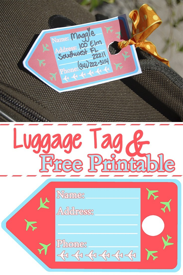 Luggage Tags Free Printable | Mom Explores Southwest Florida - Free Printable Luggage Tags