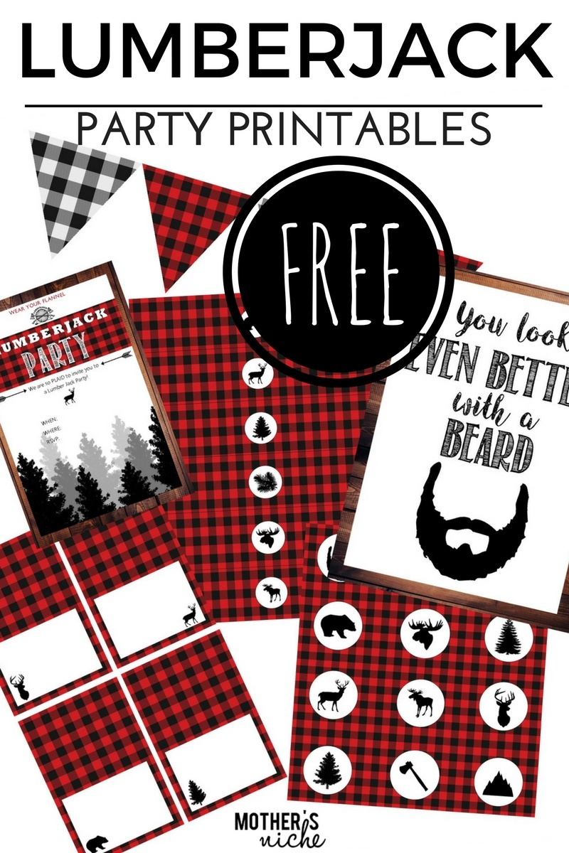 Lumber Jack Party- With All The Free Party Printables You Need - Lumberjack Printables Free