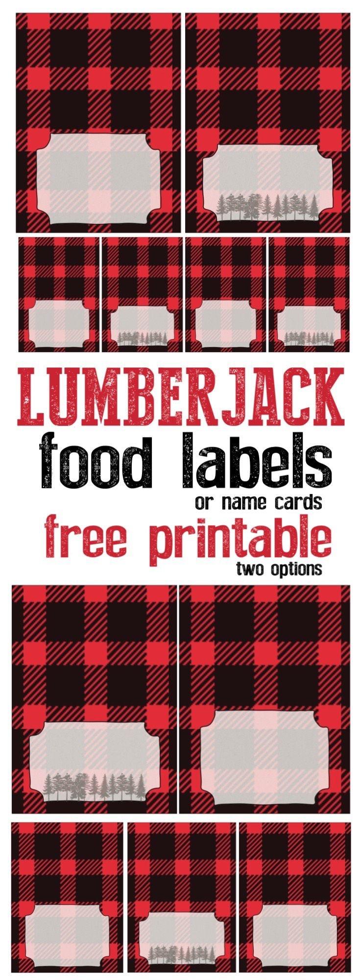 Lumberjack Food Labels Free Printable | Trevor Bday | Lumberjack - Lumberjack Printables Free