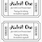 Luxury Free Printable Event Ticket Template | Best Of Template   Free Printable Admission Ticket Template