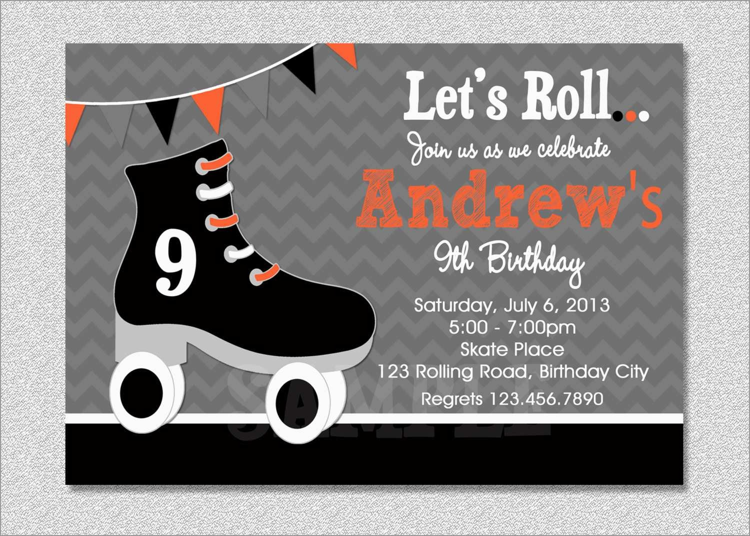 Luxury Skating Party Invitation Template Free | Best Of Template - Free Printable Roller Skating Birthday Party Invitations