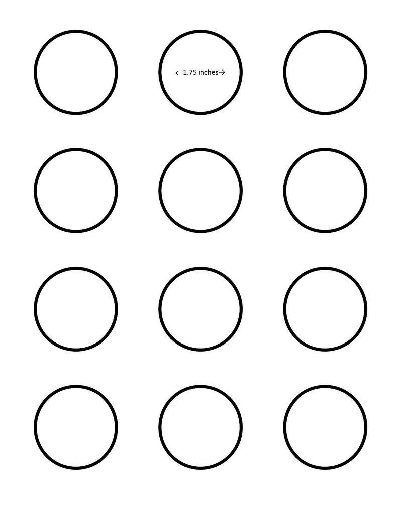 Macaron 1.75 Inch Circle Template - Google Search I Saved This To My - Free Printable 6 Inch Circle Template