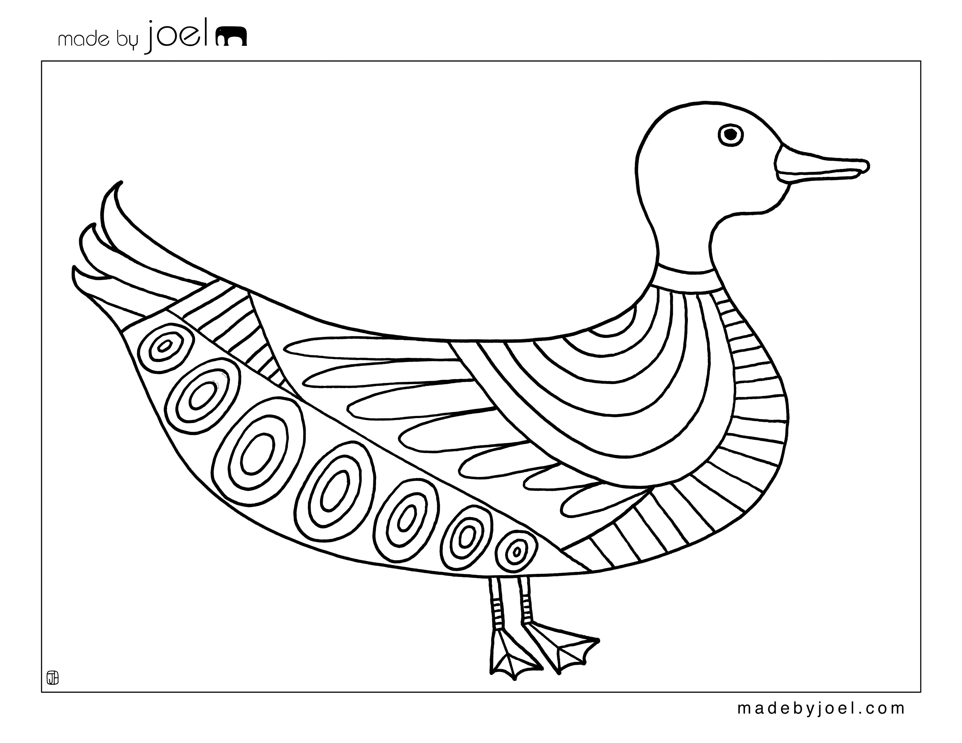 Madejoel » Duck And Goat Coloring Sheets - Free Duck Printables