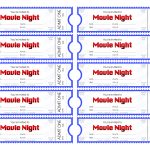 Make Your Own Movie Night Tickets – Sheknows   Free Printable Movie Tickets