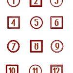 Making Life Whimsical: Free Printablesadvent Numbers | Christmas   Free Printable Advent Numbers