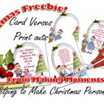 Making Moments » Christmas Card Verses – Freebies Print   Free Printable Christmas Cards With Photo Insert
