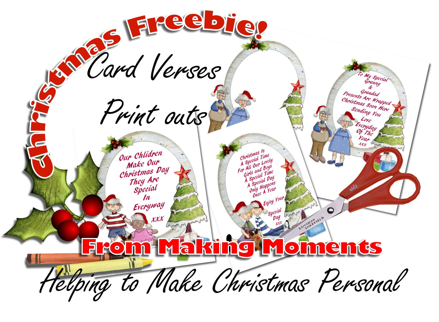 Making Moments » Christmas Card Verses – Freebies Print - Free Printable Christmas Cards With Photo Insert