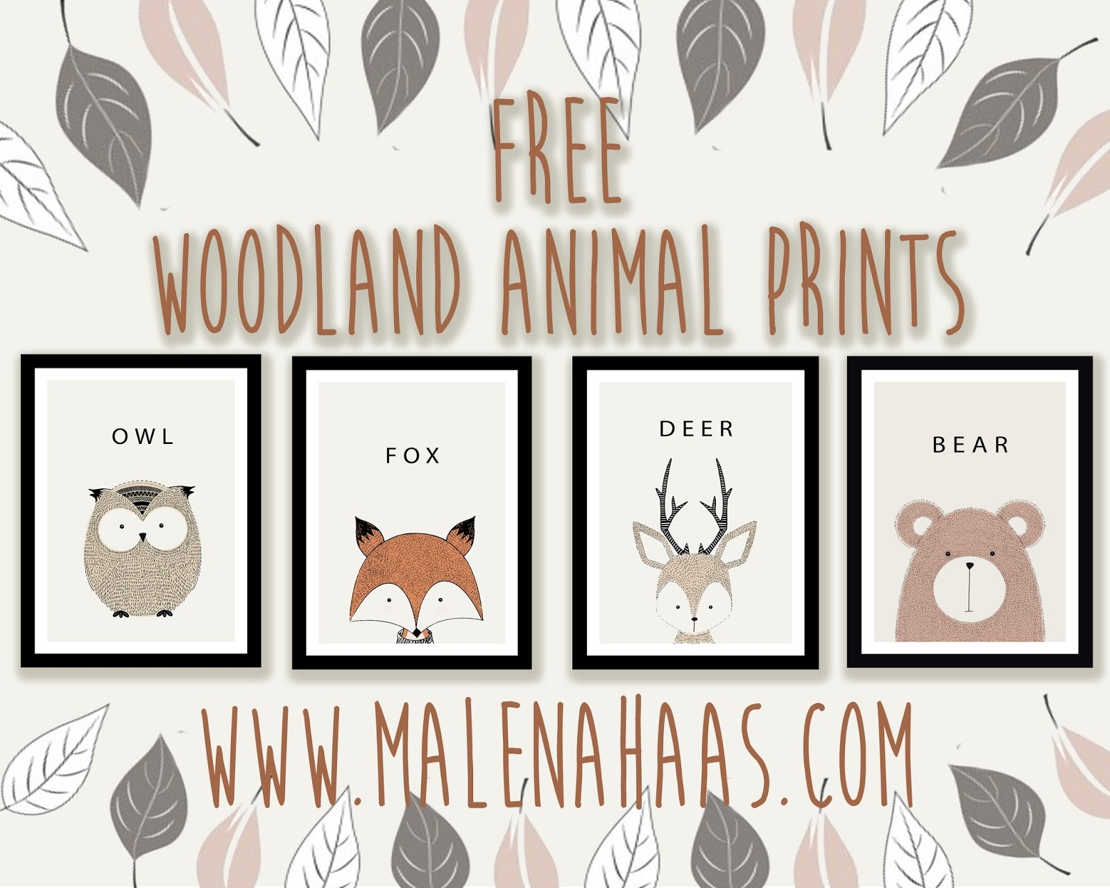 Malena Haas: Free Woodland Animal Printables - Free Woodland Animal Printables
