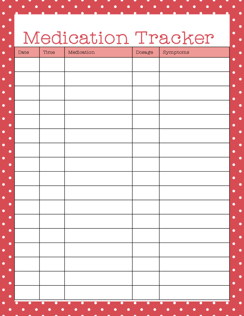 Managing Your Medicine Cabinet To Stay On Top Of Health | Bill - Medication Chart Printable Free
