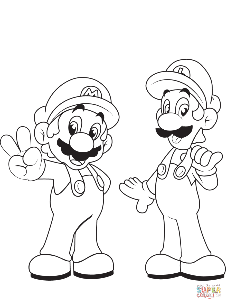 Mario Coloring Pages   Free Coloring Pages - Mario Coloring Pages Free Printable