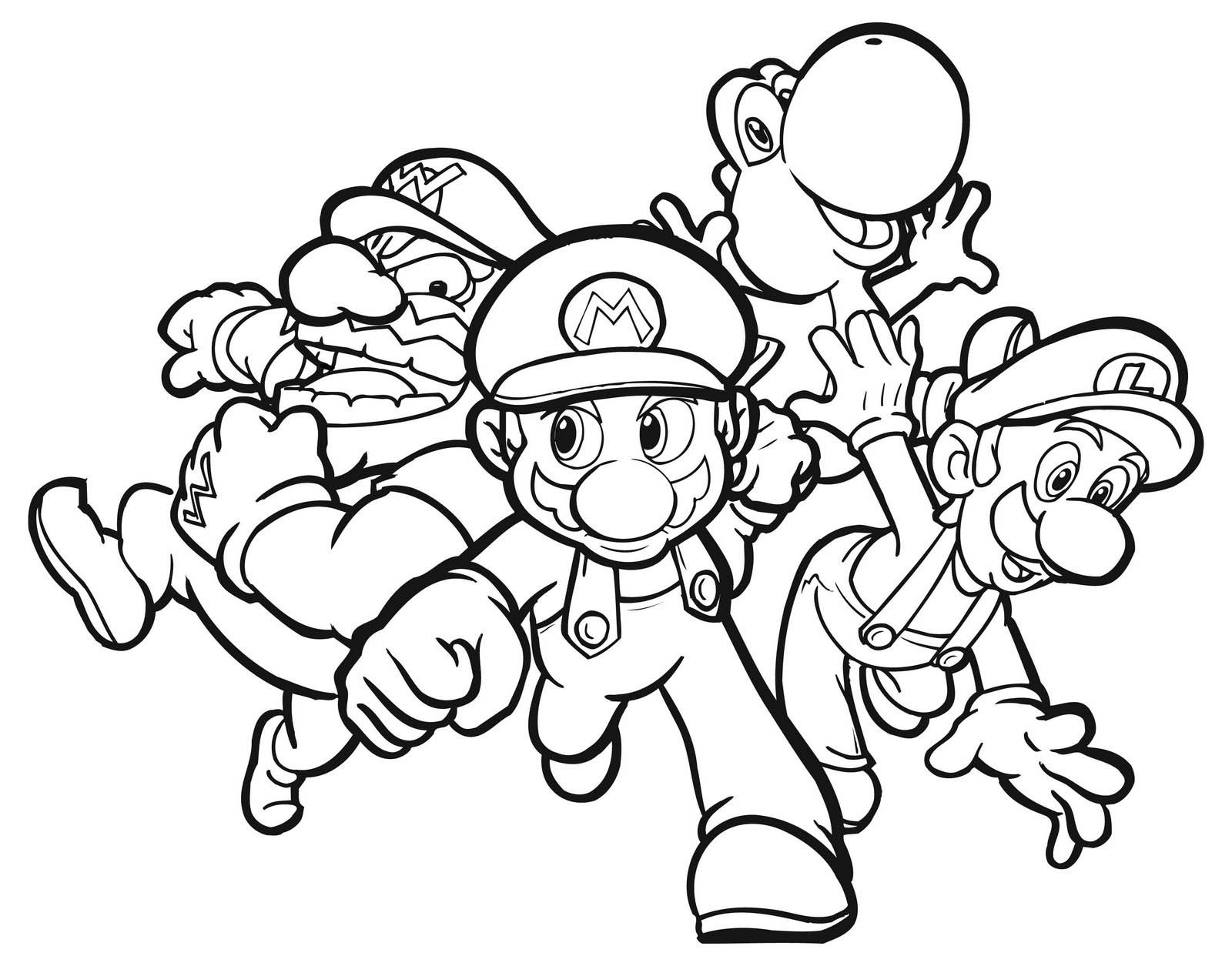 Mario Kart Coloring Pages - Best Coloring Pages For Kids - Mario Coloring Pages Free Printable