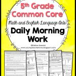 Math And English Language Arts Daily Morning Work   Young Teacher Love   Free Printable 4Th Grade Morning Work
