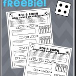 Math Dice Game Freebie   Roll & Solve Decimal Equations & Place   Place Value Game Printable Free