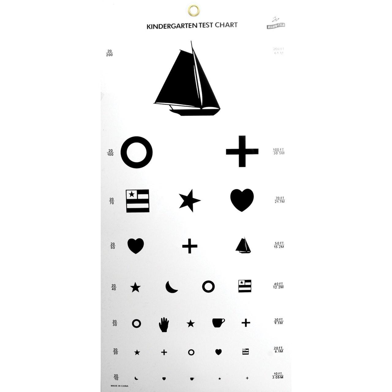 Maxiaids | Kindergarten Eye Chart - Eye Exam Chart Printable Free