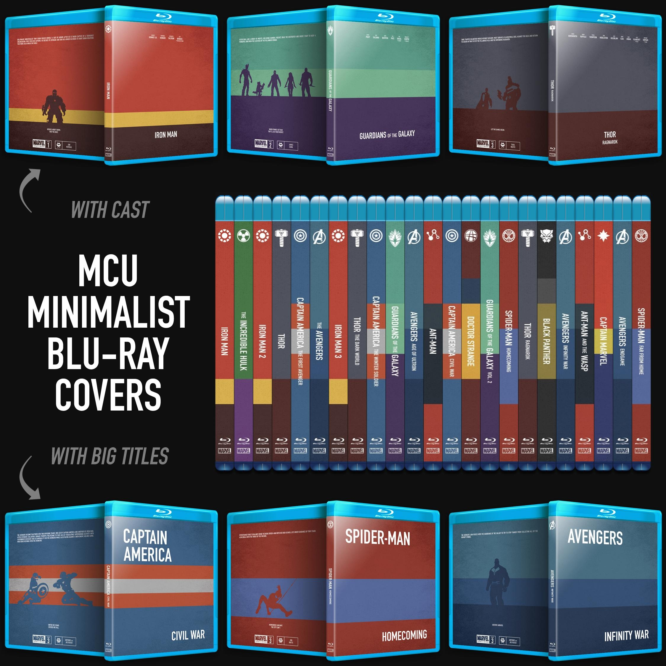Mcu Minimalist Blu-Ray Covers : Marvelstudios - Free Printable Blu Ray Covers
