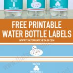 Melted Snowman Water Bottle Labels | Holiday: Christmas | Printable   Christmas Water Bottle Labels Free Printable