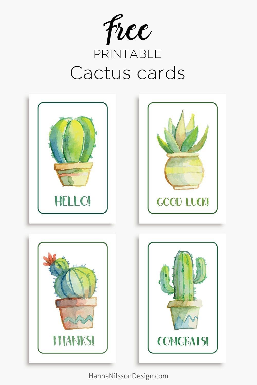 Members | Free Printables | Free Thank You Cards, Birthday Card - Free Printable Cactus