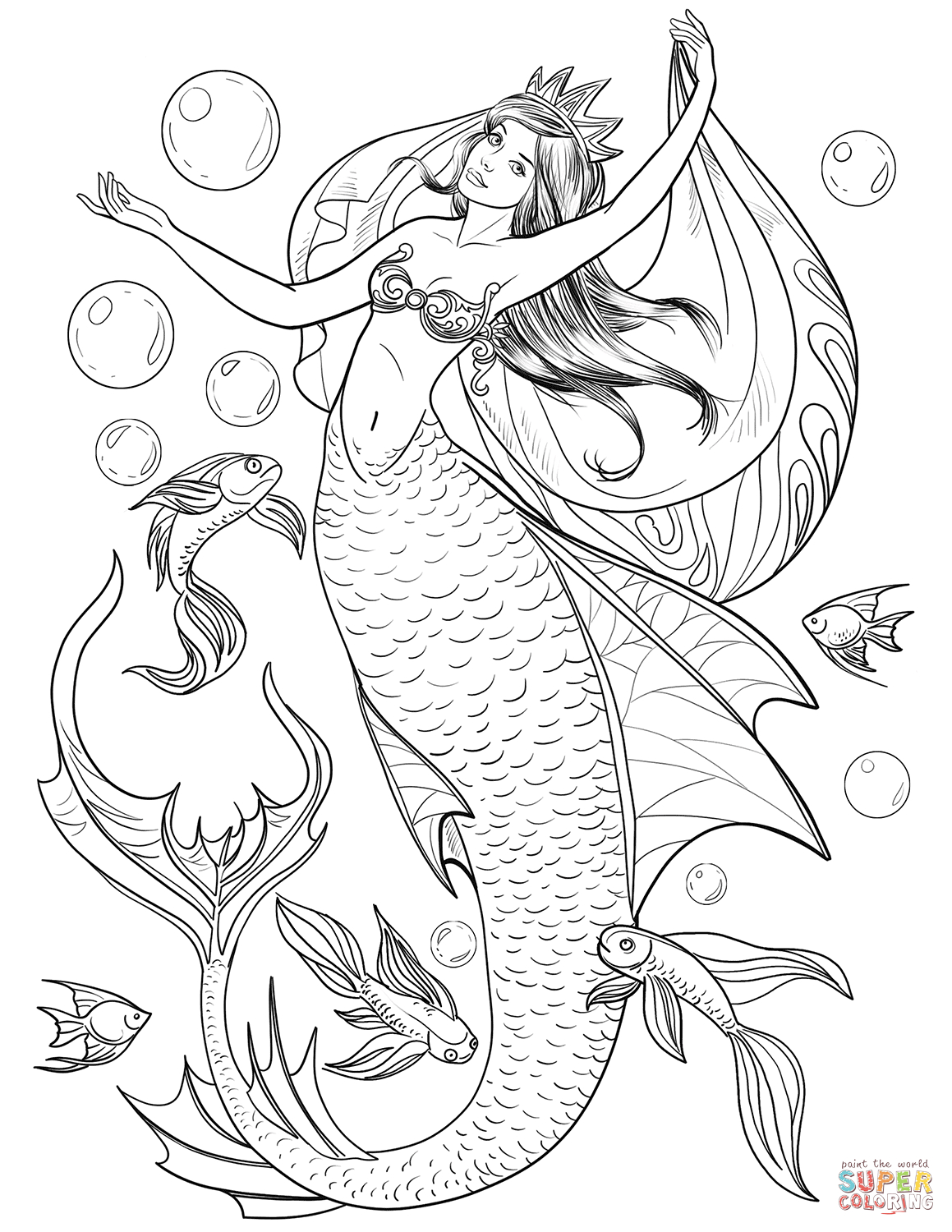Mermaid Coloring Pages | Free Coloring Pages - Free Printable Mermaid Coloring Pages For Adults