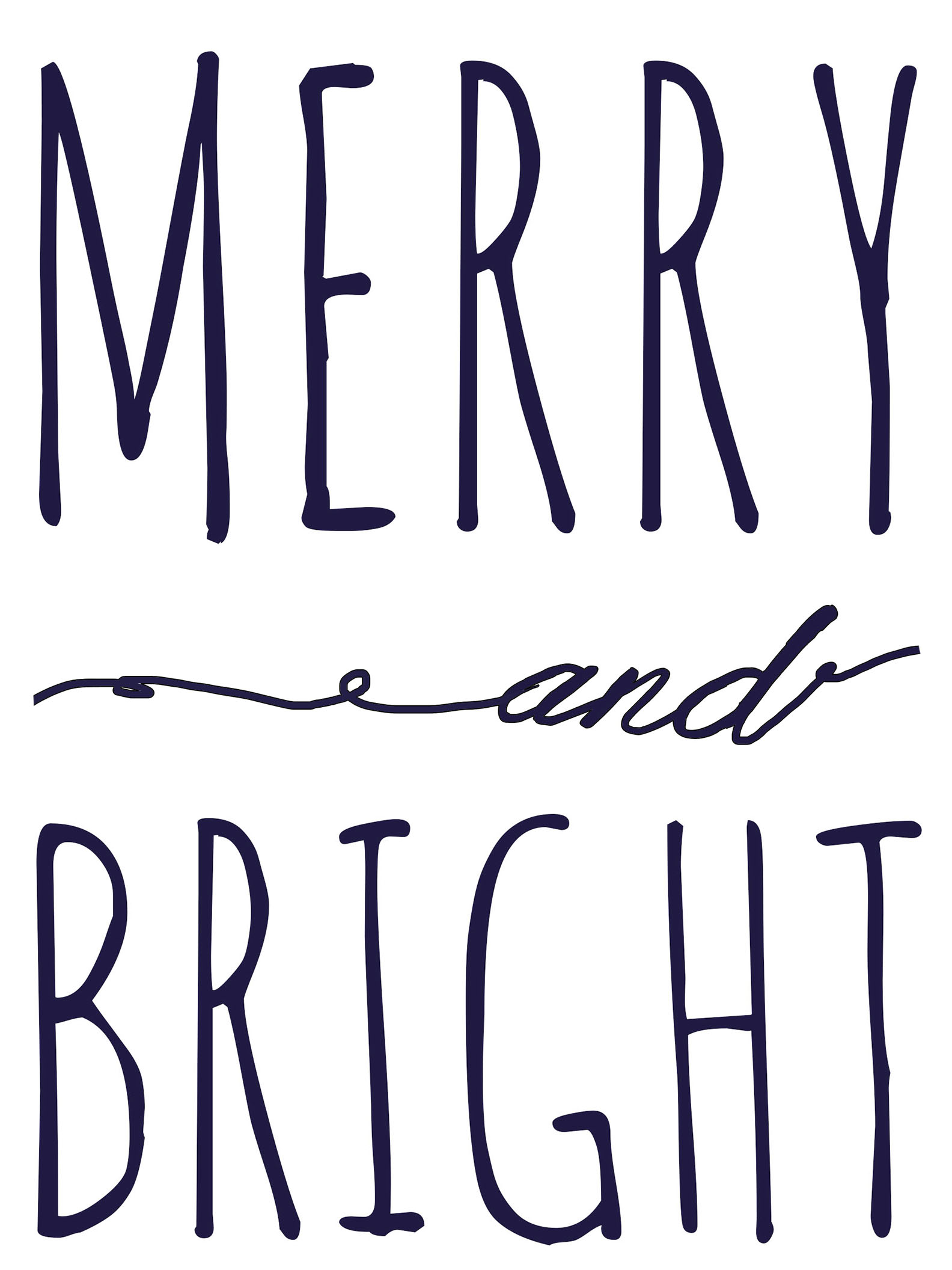 Merry And Bright Free Printable Template | Fantastically Free Fonts - Free Printable Holiday Signs Closed