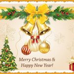 Merry Christmas And Happy New Year! Elegant Printable Greeting   Free Printable Happy New Year Cards