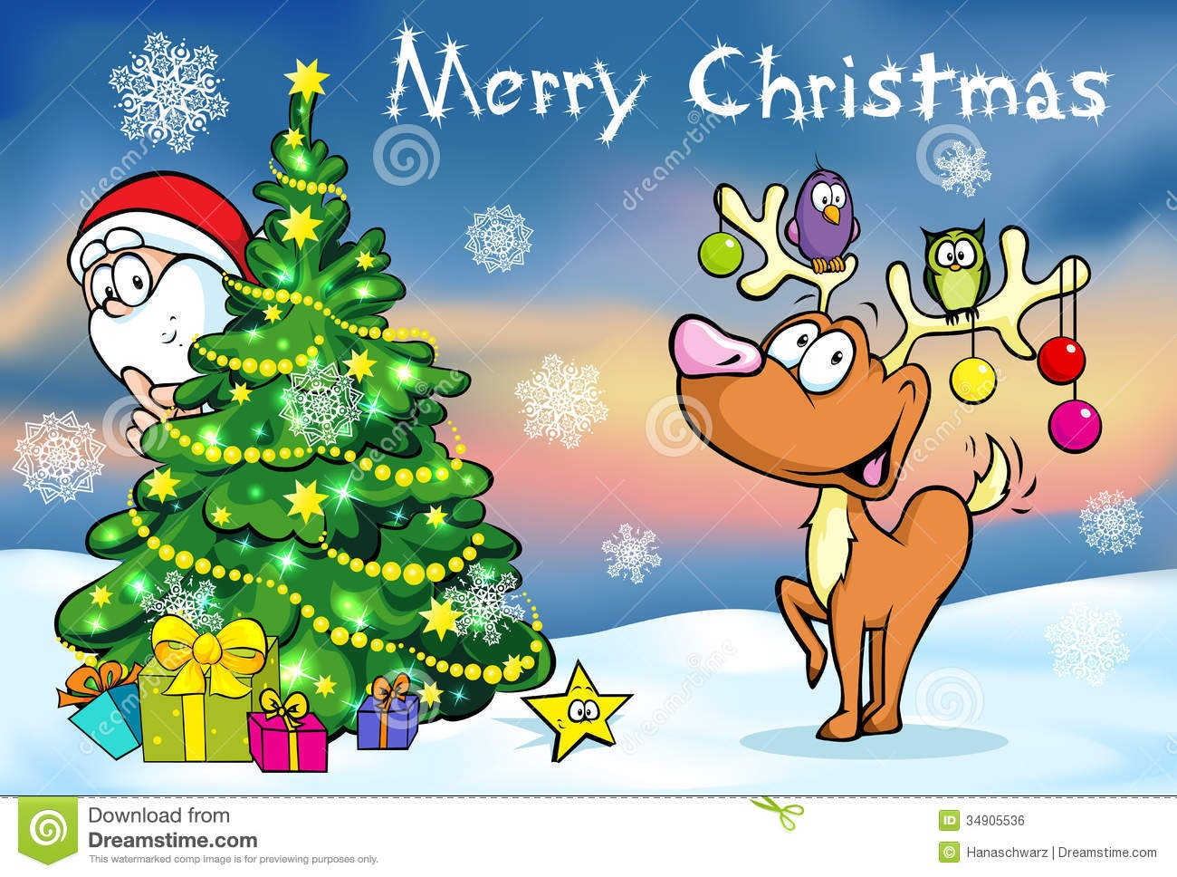 Merry Christmas Greeting Card Stock Vector - Illustration Of Card - Free Printable Xmas Cards Online