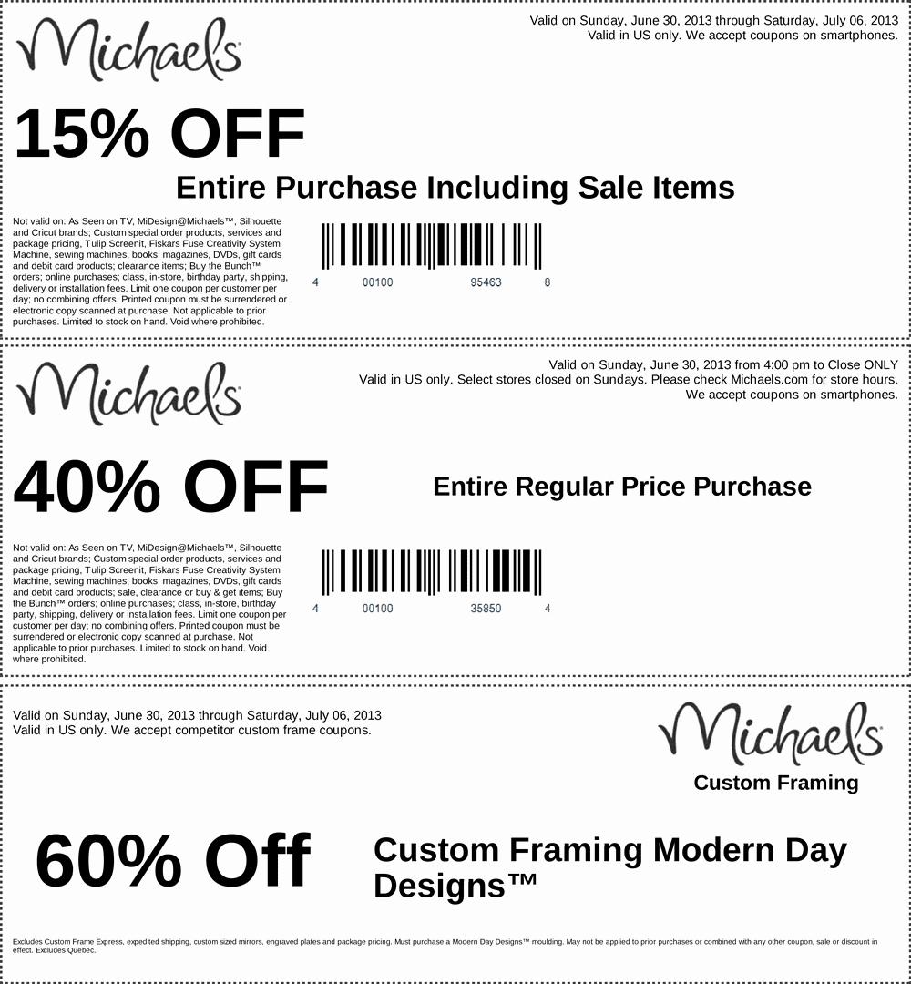 Michaels Framing Coupons Printable - Masterprintable - Free Printable Michaels Coupons
