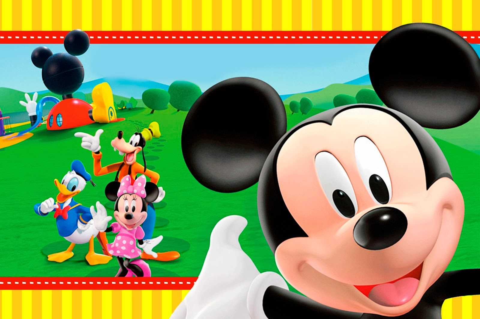 Mickey Clubhouse: Invitations And Party Free Printables. - Oh My - Mickey Mouse Clubhouse Free Party Printables
