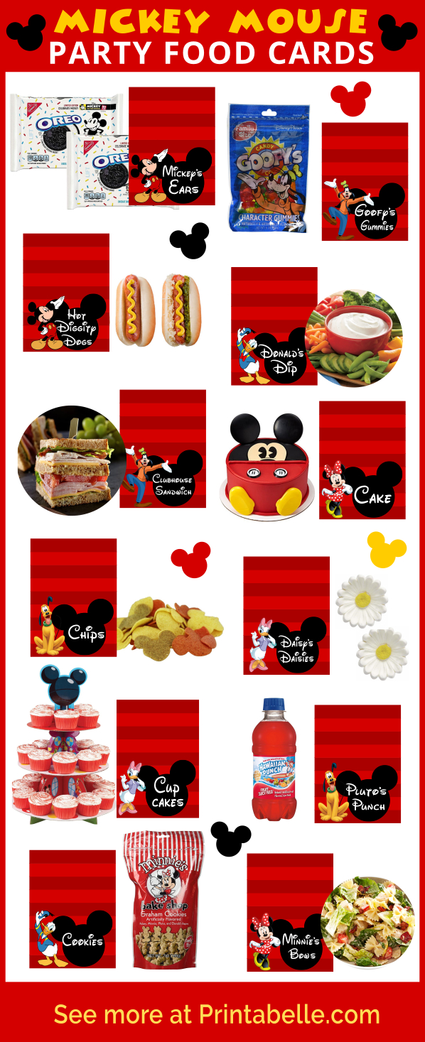 Mickey Mouse Clubhouse Party Food Ideas & Printables | Printable - Mickey Mouse Clubhouse Free Printables