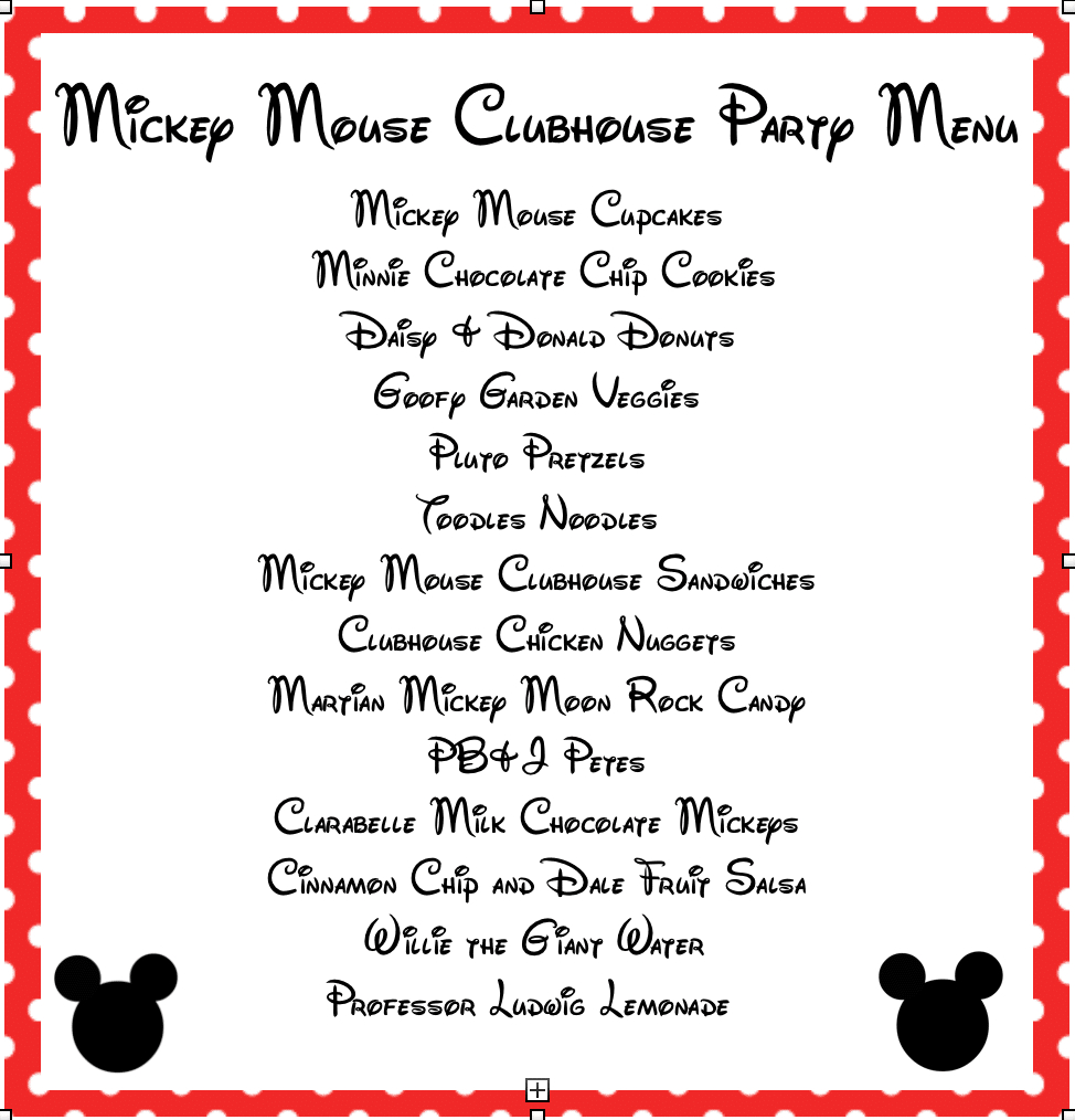 Mickey Mouse Clubhouse Party Ideas & Free Mickey Mouse Printables - Free Mickey Mouse Printables
