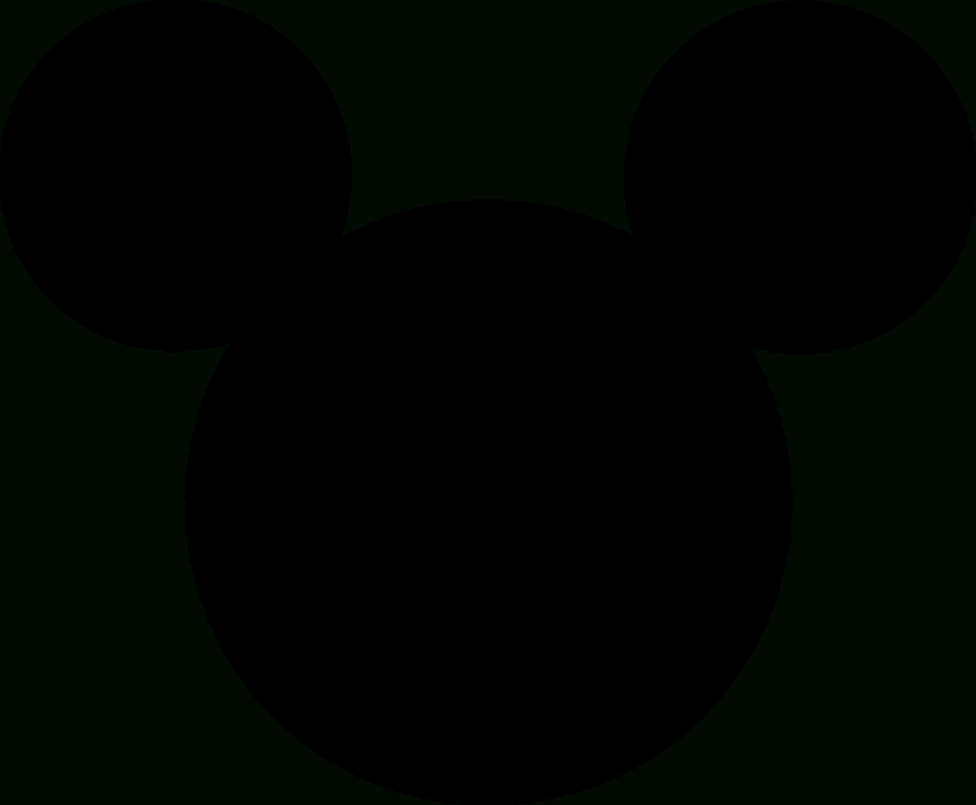 Mickey Mouse - Wikipedia - Free Printable Mickey Mouse Head