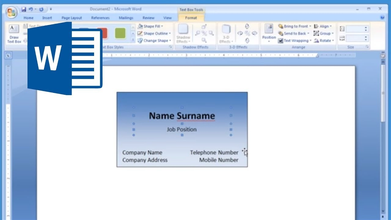 Microsoft Word - How To Make And Print Business Card 1/2 - Youtube - Online Business Card Maker Free Printable