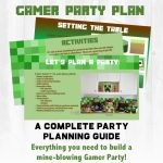 Mine Themed Gamer Party Plan   Free Printable Minecraft Thank You Notes
