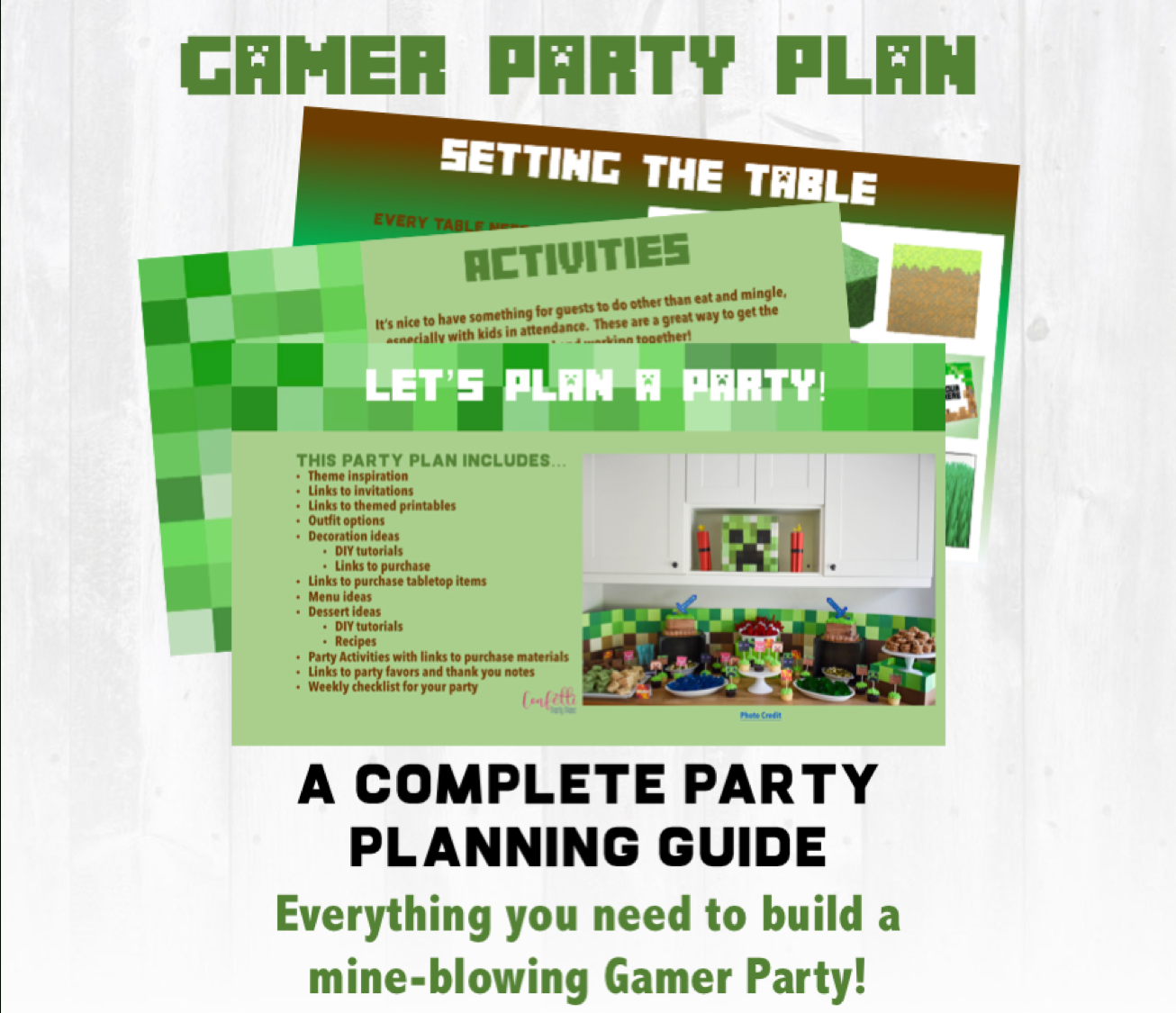 Mine-Themed Gamer Party Plan - Free Printable Minecraft Thank You Notes