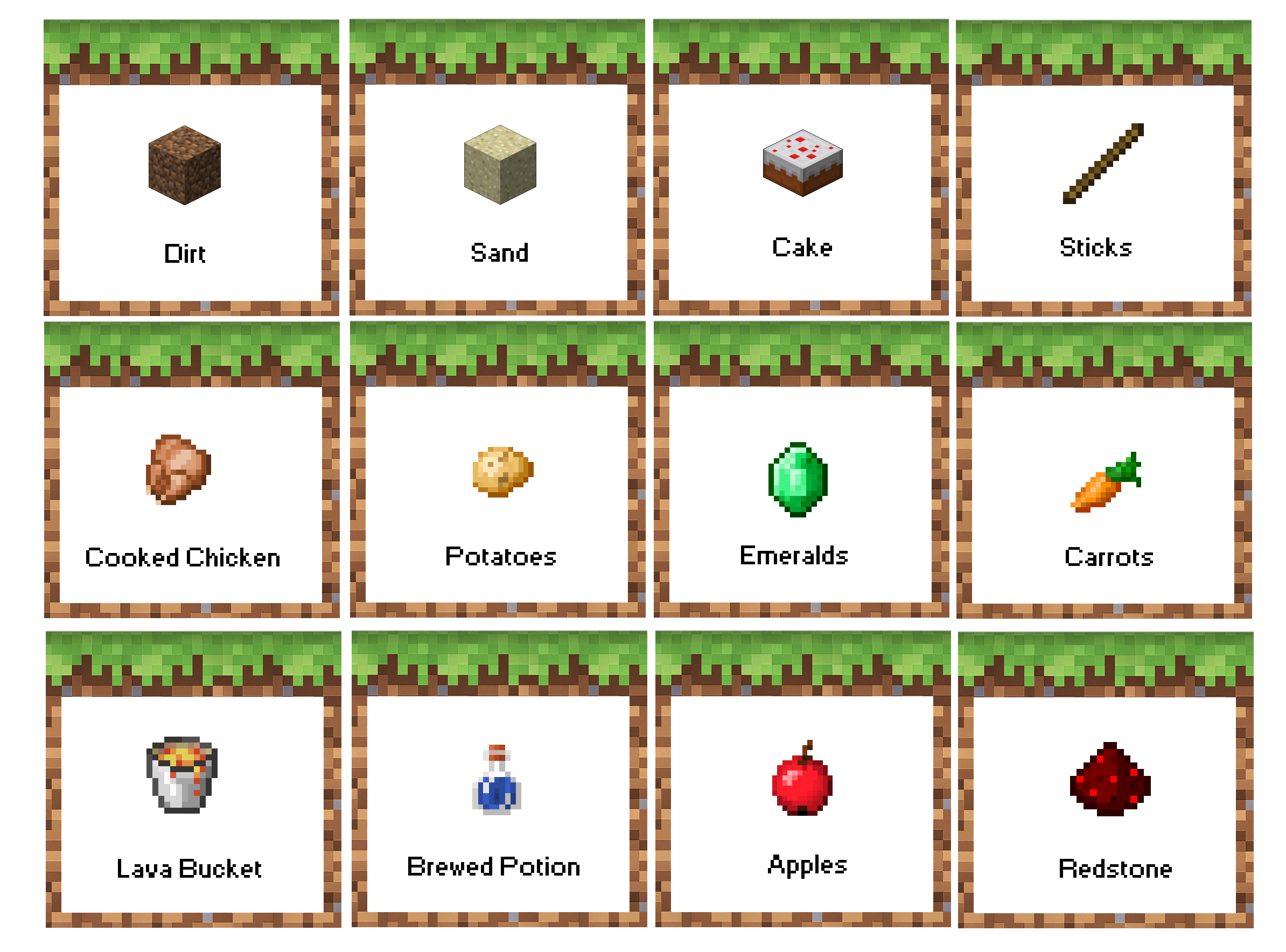 Minecraft Birthday Party Food Labels. Free Printable! Now With - Free Minecraft Party Printables