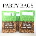 Minecraft Printable Party Favor Gift Bags   Free Printable Minecraft Thank You Notes