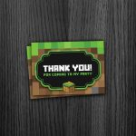 Minecraft Thank You Cards   Free Printable Minecraft Thank You Notes